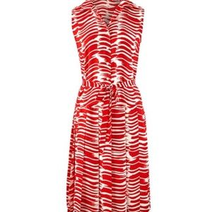 🌺Brushstroke Dress #281 CAbi NWT Medium Red White